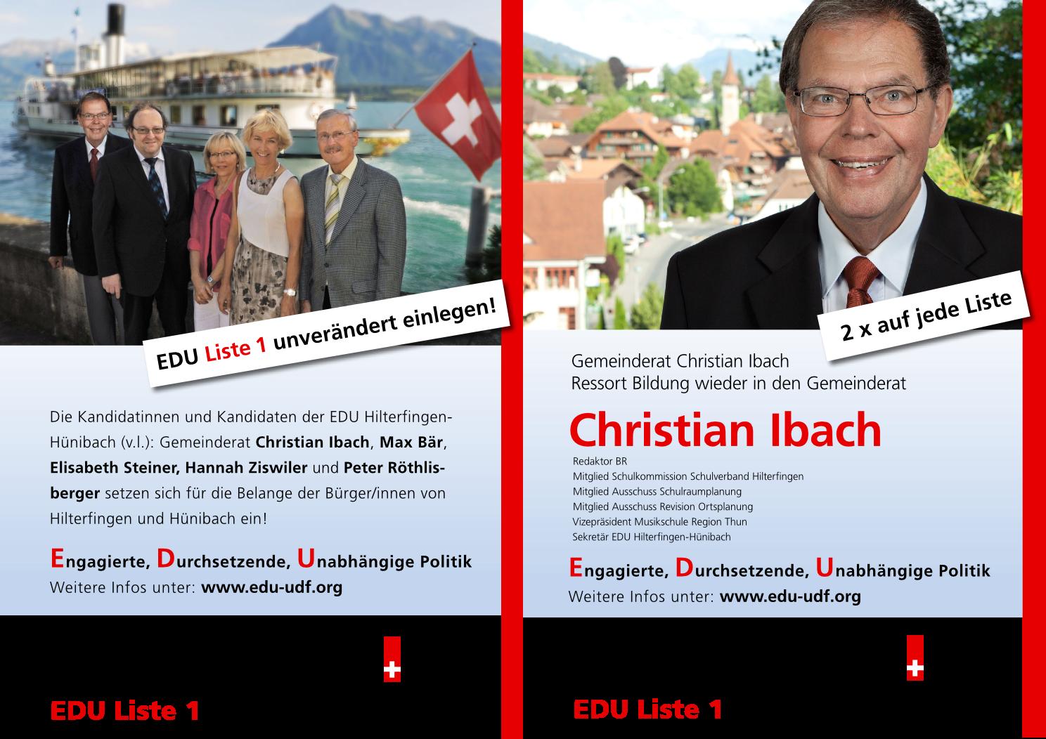 Wahlflyer Gemeinderat 2012